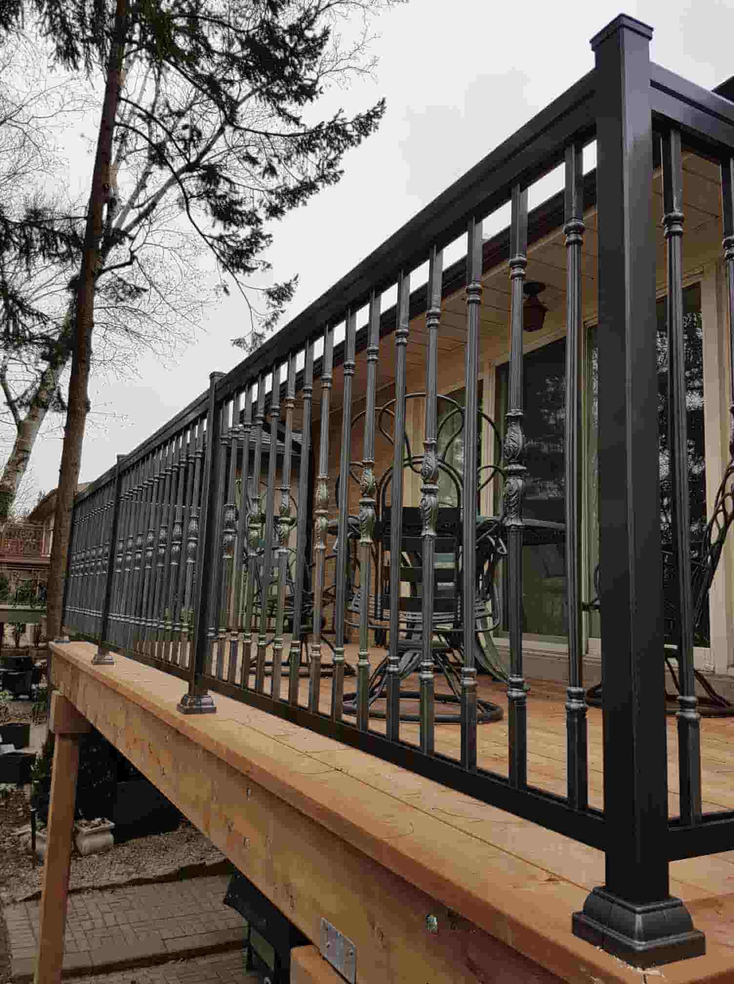 Aluminum Railing For Deck Installation Amp Manufacturers In