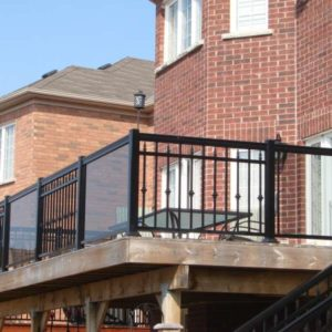 Outdoor Deck Glass Railing